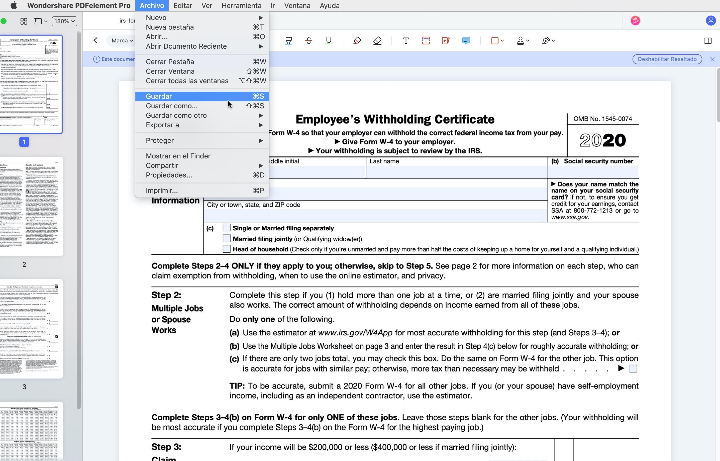 cómo editar texto en pdf en mac