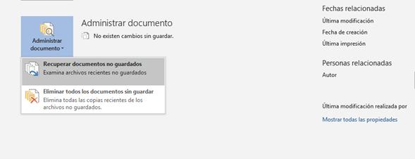 recuperar archivos no guardados