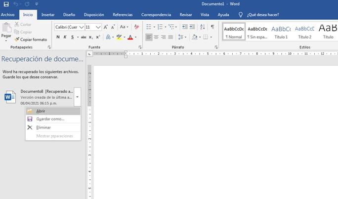 abrir documento Word