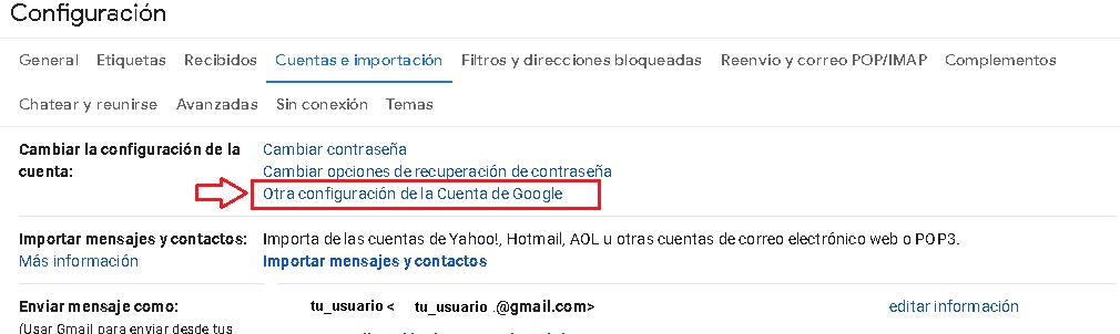 ¿Cómo borrar una cuenta de Gmail?: cambiar la configuración de la cuenta