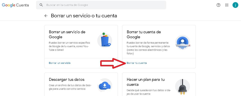 ¿Cómo borrar una cuenta de Gmail?: borrar la cuenta y los datos