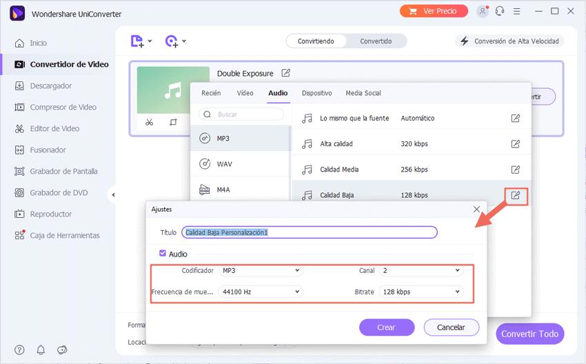personaliza la configuración de audio