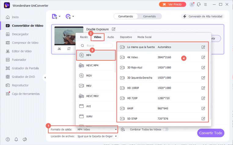 Importar MOV a Adobe Premiere - conversión mov a mp4