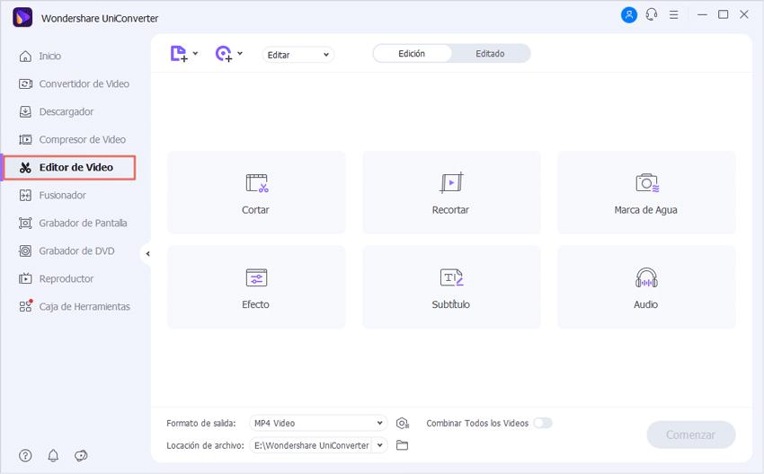 editar videos y aplicar efectos