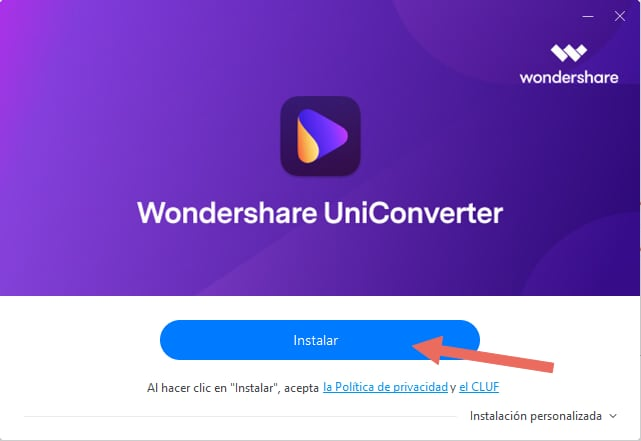 installa uniconverter
