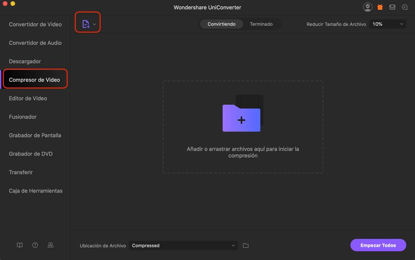 agregar los archivos MP4 más pequeños