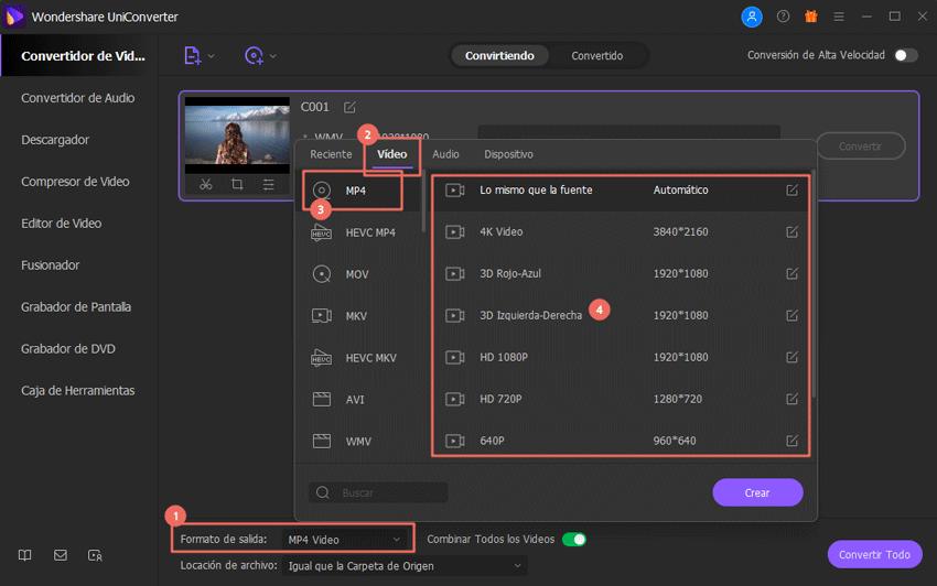 convertidor wmv a formato compatible con mac