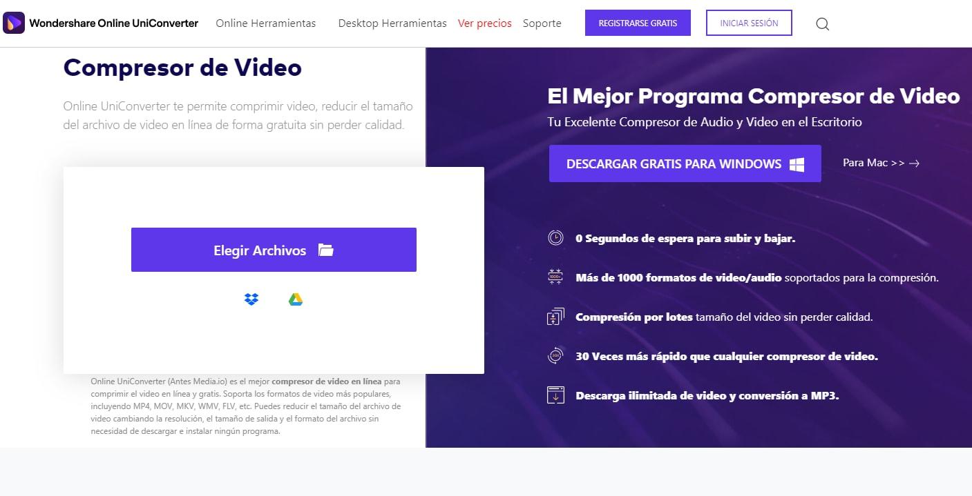 comprimir video en línea