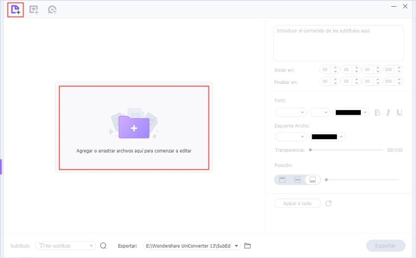 importar video a UniConverter