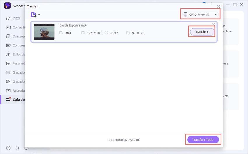 transferir videos desde la computadora hacia el iPhone
